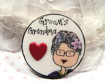 standout gift for groom's grandma,custom gift for grandmother of groom,present for nana of groom,wedding party gift,nana brooch