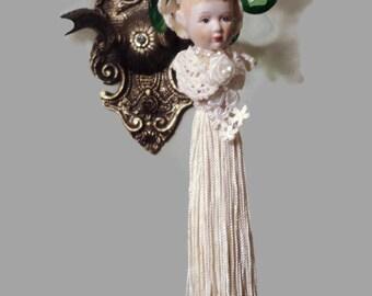 Vintage Porcelain Tassel Bride Doll