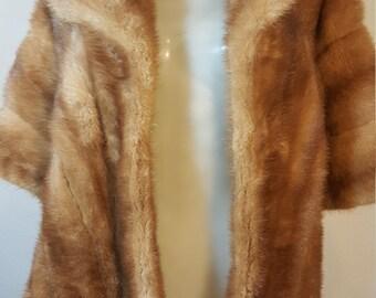 FREE  SHIPPING   1950Mink Fur Wrap