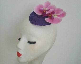 SALE 20% OFF Cappellino Fascinator Hat 1940's 1950's Pin Up Rockabilly Vintage Inspired Repro Swing