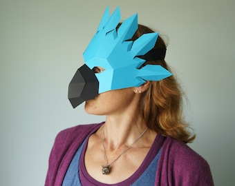 Parrot Mask - Make your own Mask from waste card