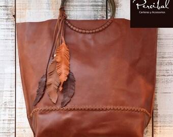 Oversize Leather Bag, Oversized handbag, brown leather purse