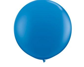 Dark Blue Jumbo Balloon blue 36 inch balloon big balloons blue birthday party boy blue party decor blue wedding balloons for grand opening