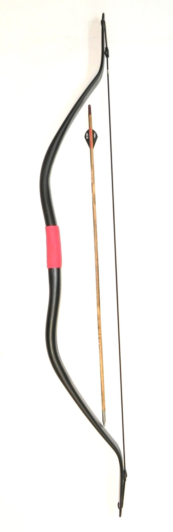 "Archery Re-curve ""Mongolian Black Badger"" 51"" 40-45lb Horse Bow"