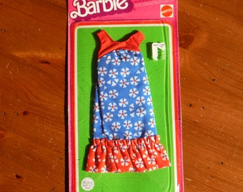 Vintage 1970's Barbie Dress in Unopened Package - 1975 Barbie Dress Outfit Packaged - Mattel Vintage '70's Barbie Clothing Clothes Dress