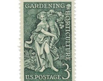 1958 3c Gardening Horticulture - 10 Unused Vintage Postage Stamps - Item No. 1100