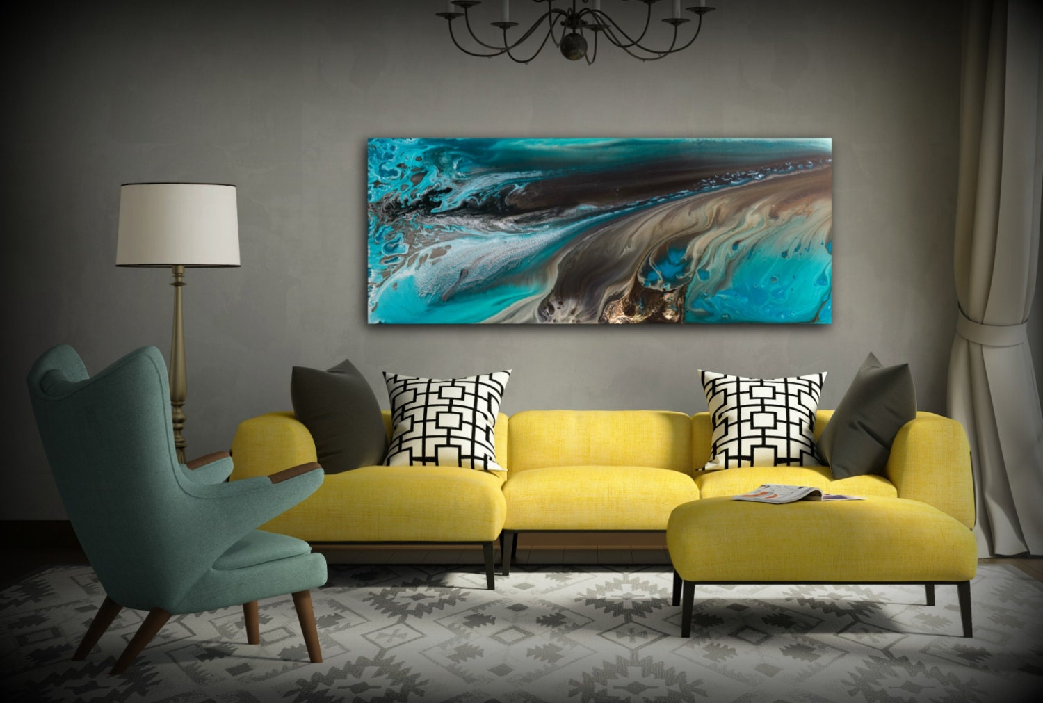 Giclee prints art abstract painting coastal home decor for Modern artwork for home