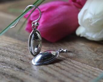 Vintage Sterling Silver 925  Dangle Earrings. Vintage Jewelry.