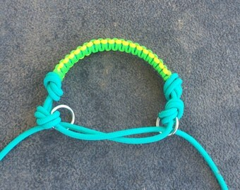 Bitless Bridle Attachment Indian Hackamore Style Style-MultiColor Paracord overlay Knotted or Braided