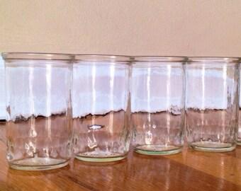 Vintage Jelly Jar Juice Glasses