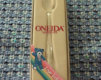 """Vintage ONEIDA Community Affection Baby Feeding Spoon from the """"Love Lasts"""" line"""