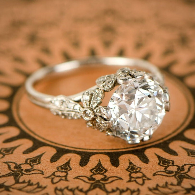 etsy wedding rings 3 28ct european engagement ring edwardian style 3942