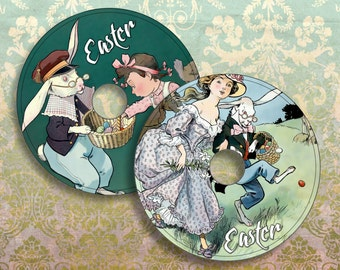 EASTER - Printable CD/DVD Labels Download Digital Collage Sheet  - Print and Cut