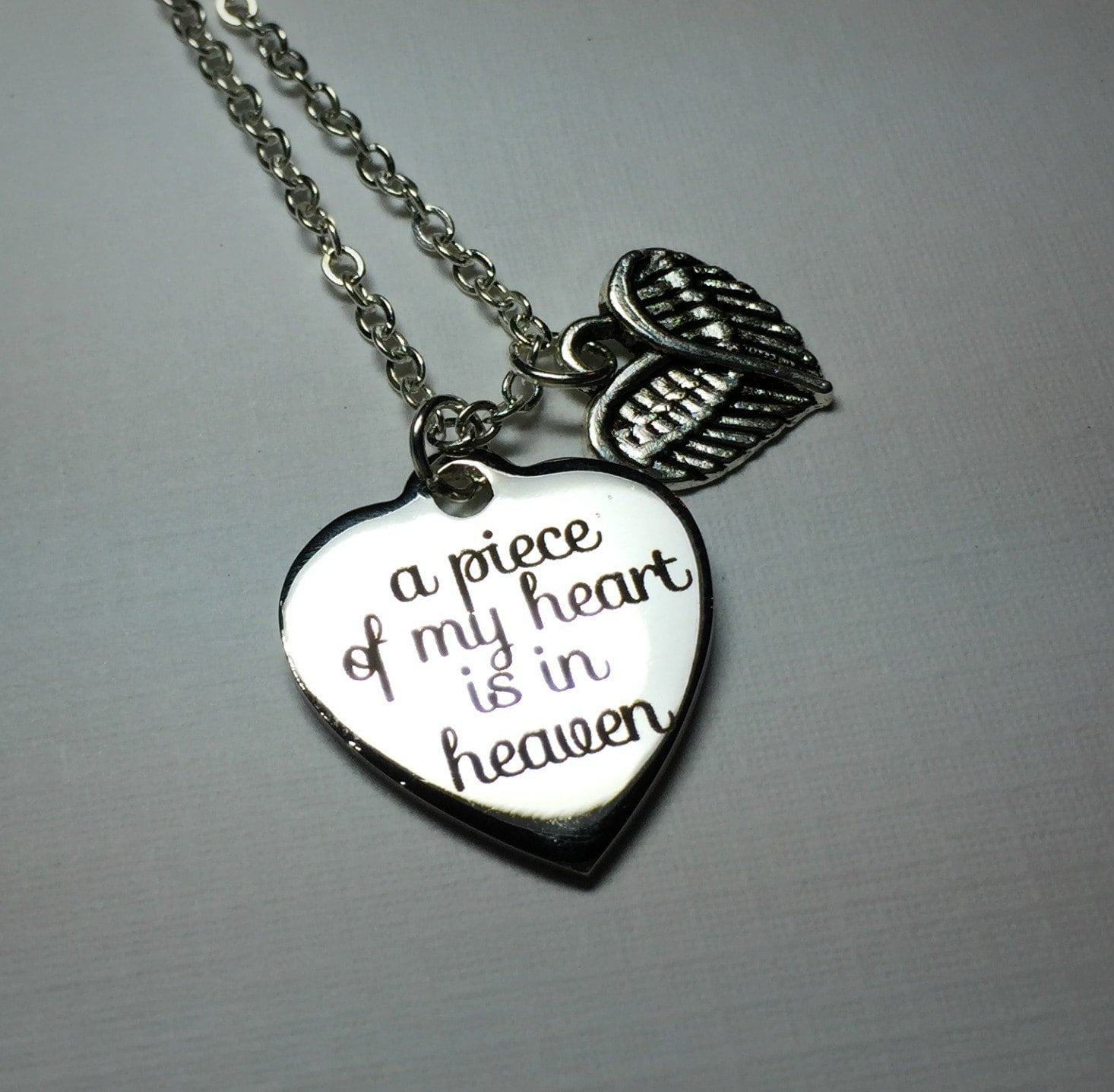 a piece of my heart is in heaven necklace remembrance