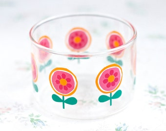 Colorful Lollipop Flowers - Clear Glass Bowl