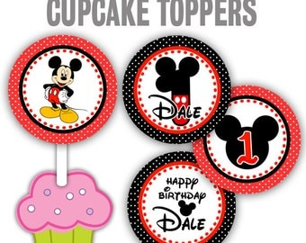 CT-205: Mickey Mouse Cupcake Toppers