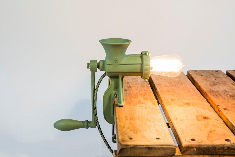 Industri le gehaktmolen lamp unieke lamp gemaakt van een - Industriele apparaten ...