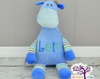 Blue Giraffe Pastel Stuffed Animal Cubbie