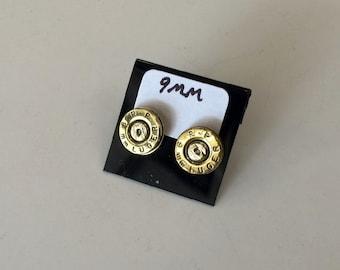 Earrings Post 9mm Brass Pistol