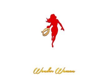 Wonder Woman Silhouette Pin - Justice League DC Comics Brooch