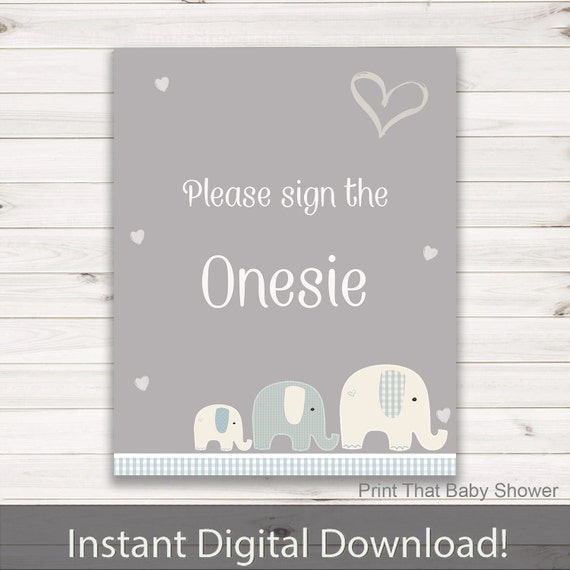 onesie sign elephant baby shower elephant baby shower sign sign