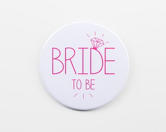 Bride to Be Badge White - Hen Night / Hen Party / Bride to Be / Bachelorette Badge