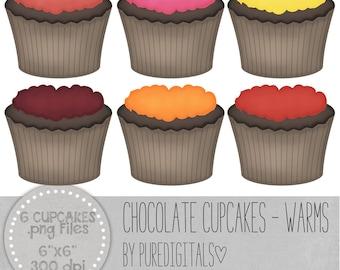 Cupcakes Clip Art, Cupcakes PNG, Digital Scrapbooking, Scrapbooks, Colored Cupcakes, Digital Dessert, Digital ClipArt, Digital Clip ARt
