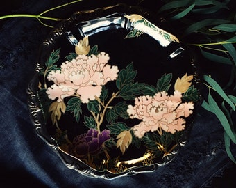 """Fitz & Floyd """"Cloisonne Peony"""" Cookie Plate (2 Available)"""