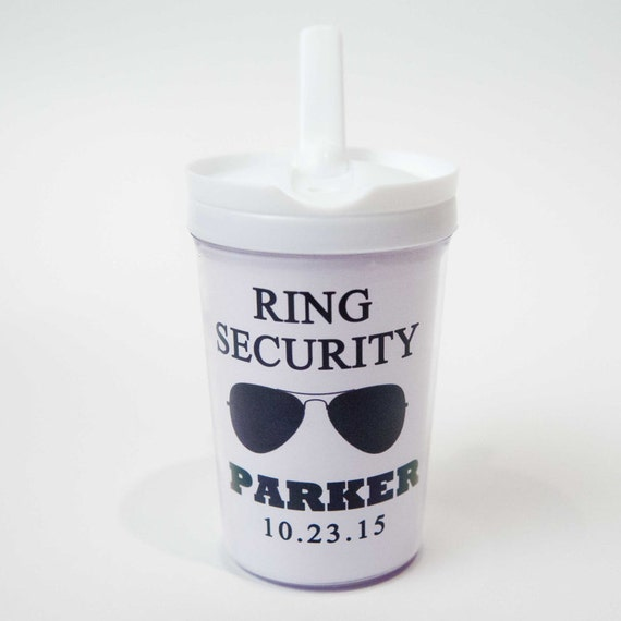 ring bearer gift personalized tumbler or sippy cup by