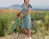 Turquoise knitted dress (before 120 euros)