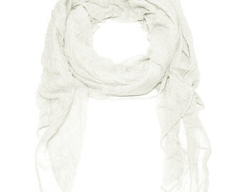 Ziegfeld Scarf in White
