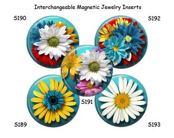 Magnetic Jewelry, Interchangeable Magnetic Jewelry Inserts, Magnetic Inserts for Necklace, Magnets, Changeable Magnets, 23mm Pendants, M101