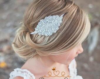 Flower Girl Rhinestone Headband, Flower Girl Hair Accessory