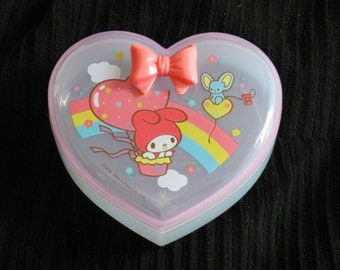 Sanrio Hello Kitty Heart Box - Vintage 1986 - Trinket Box - Hello Kitty Collectible - Sweet - Retro - Nice Sized - Colorful - Clean - Chic