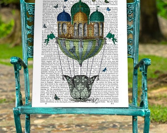 Butterfly Decor - Hot Air Balloon print Butterfly House - Butterfly print Butterfly art butterfly gift for mom unique gift butterfly poster