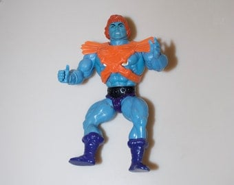 He-Man Faker Masters of the Universe MOTU 1981 Action Figure Blue Soft Head