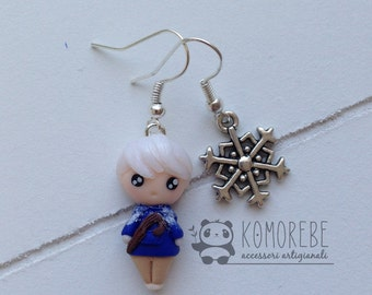 Jack Frost inspired, 5 legends, Rise of the guardians, Earrings, earrings