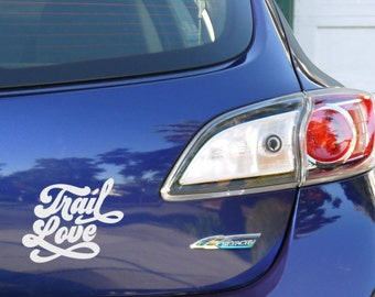 Trail Love: Cool Retro Hiking and Trail Car Decal