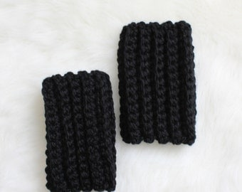 SALE Crochet Ankle Warmers - Black