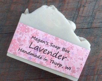 Lavender Bar Soap - Vegan - Natural soap - Handmade - Cold process Soap - Lavender essential oil - Natural skin care.
