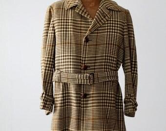 vintage 60s Pendleton wool coat, belted car coat