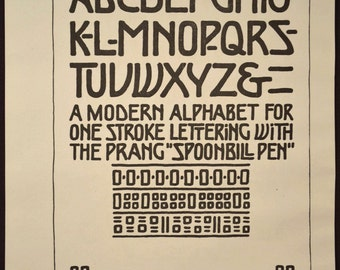Alphabet Wall Art Lettering Wall Decor Typography Ephemera Antique Print