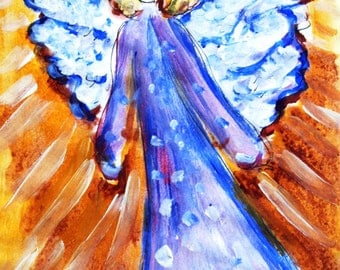 Angel Painting Art Print, Birthday Gift, Gift Idea, Gift for her, Gift for Mom, Romantic Gift, Nursery Decor