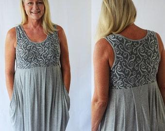Women's dress pattern, dress pattern, stretch knit dress pattern, sewing pattern, pdf pattern, dress pdf pattern, maternity dress pattern