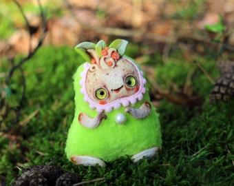 cute ooak doll fantasy plush Mandrake root mandragora kawaii plush toy cute polymer clay toy fantasy stuffed toy art fantasy creature