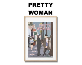Affiche de film Pretty Woman - Poster Garry Marshall A3