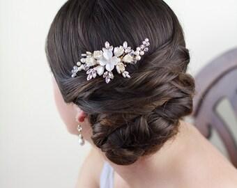 Bridal headpiece, Harriet Wedding headpiece, Bridal comb, Hair Accessories, wedding, Bride,