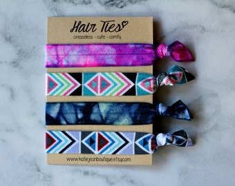 """Elastic Hair Ties - The """"Indie"""" Collection"""