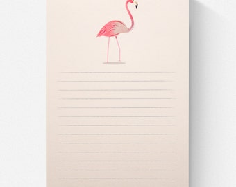 Flamingo Lined Notepad