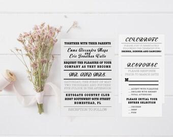 Industrial Wedding Invitation Suite-DIGITAL/PRINTABLE